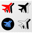 collage of gradiented dotted airplanes and grunged vector image