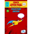 Comic Book Cover vector image vector image