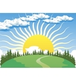 Country landscape with Sun vector image vector image