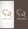 dog head design on white background and brown vector image
