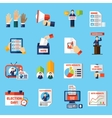 Elections And Voting Flat Icons Set vector image