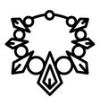 fashion necklace icon outline style vector image vector image