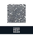 fingerprint stamp finger print biometric scan vector image
