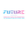 futuristic style font design alphabet letters and vector image