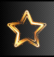 glowing gold star transparent light effect vector image