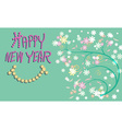 Greeting card for happy new year with pattern of vector image vector image
