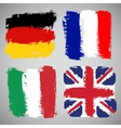 Grunge european flags set vector | Price: 1 Credit (USD $1)