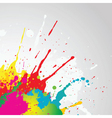 grunge paint splat vector image vector image