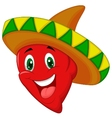 Habanero pepper cartoon vector image vector image