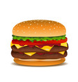 hamburger clip art vector image vector image