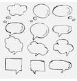 hand drawn speech bubbles on white vector image