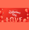 happy valentines day origami paper heart and love vector image