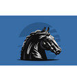 horse galloping vector image