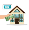 house real estate buy bill design vector image
