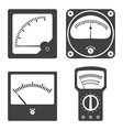 Icons of electrical measuring instruments vector image