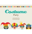 invitation for costume party Kids wearing vector image vector image
