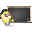 light bulb classroom cartoon character vector image