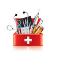 medical equipment box isolated vector image vector image