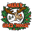 Merry christmas moose vector image vector image