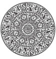 Monochrome round seamless ornament