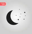 moon and stars icon isolated vector image
