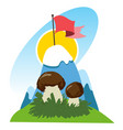 mountaineering logo hiking climbing traveling vector image vector image