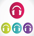 Music headphones icons vector image vector image