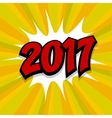 New year 2017 yellow background vector image vector image