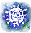 New Year Greeting Card Happy new year lettering vector image vector image