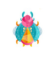 original of beetle with wings horns vector image vector image