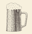 pint beer vintage engraved hand vector image