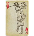 Playing Card King - Vintage Golfer an Man Freehand