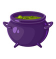 pot of witch icon cartoon style vector image vector image