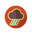 Rain Cloud flat icon Downpour rainfall Weather vector image vector image