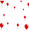 red balloons decoration white background vector image vector image