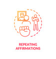 repeating affirmations concept icon