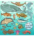 sea and river animals - part 1 vector image vector image