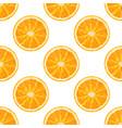 seamless pattern of orange slice citrus background vector image vector image