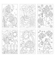set black and white pages for baby coloring