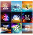 set summer travel and vacation designs vector image vector image