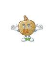 silent marolo fruit cartoon character mascot style vector image vector image