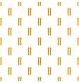Ski pattern cartoon style vector image vector image
