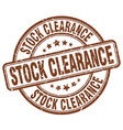 stock clearance brown grunge round vintage rubber vector image vector image