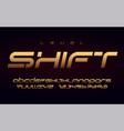 stylish technology gold alphabet uppercase vector image vector image