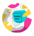 thank you social media poster template vector image