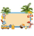 Traveling Board vector image vector image