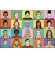 twenty young people vector image
