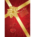 valentines day red background vector image vector image