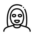 woman healthcare mask icon outline vector image