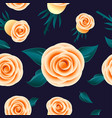 yellow roses seamless pattern flowers leaves vector image vector image